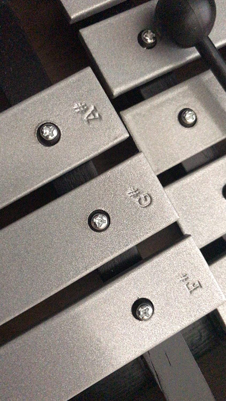 Enhong 鉄琴 30音 折り畳み マレット2本収納ケース付き   B076ZF8119