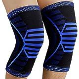NEENCA 2 Pack Knee Brace,Compression Knee Sleeve Support for Men & Women,Running,Arthritis,ACL,Joint Pain Relief,Meniscus Tea