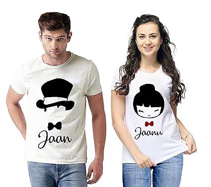 f368b9adec vfesta Round Neck Matching Couple T-Shirt for Men Women for Girlfriend  Boyfriend Husband Wife