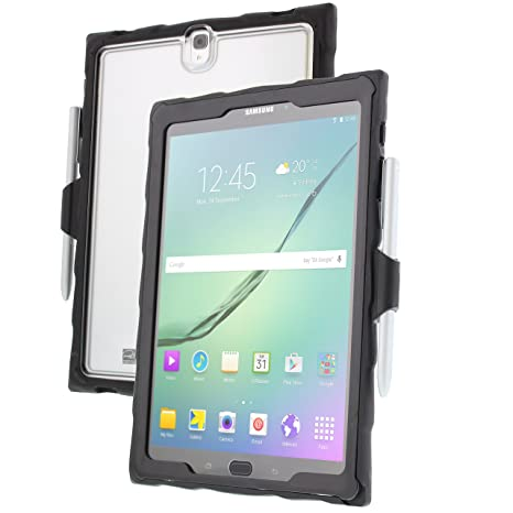 best service 88a59 e961e Gumdrop Cases DropTech Protection Case for Samsung Galaxy Tab S3, Clear,  Shock Absorbing Custom Molded Case with Screen Protection & Port Covers