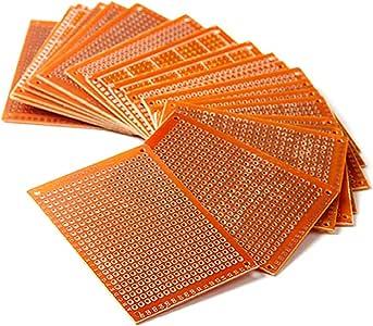 HiLetgo 20pcs 5x7cm Bakelite DIY Prototype Board PCB 57cm Universal Breadboard Test Prototype Boards for Arduino DIY Electronics Experiments