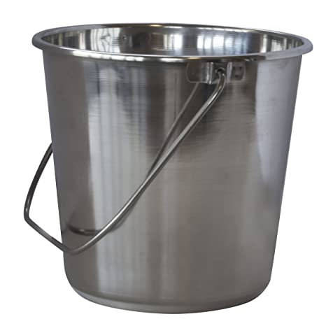 Amazon.com: amerihome XL acero inoxidable Bucket: Home & Kitchen