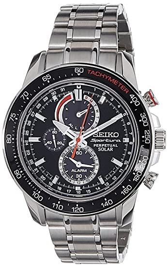 18a85496a Image Unavailable. Image not available for. Colour: Seiko Mens Chronograph  Solar Powered Watch ...
