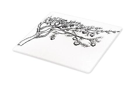 0a76098071f0c Amazon.com: Lunarable Tree Cutting Board, Blossoming Pomegranate ...