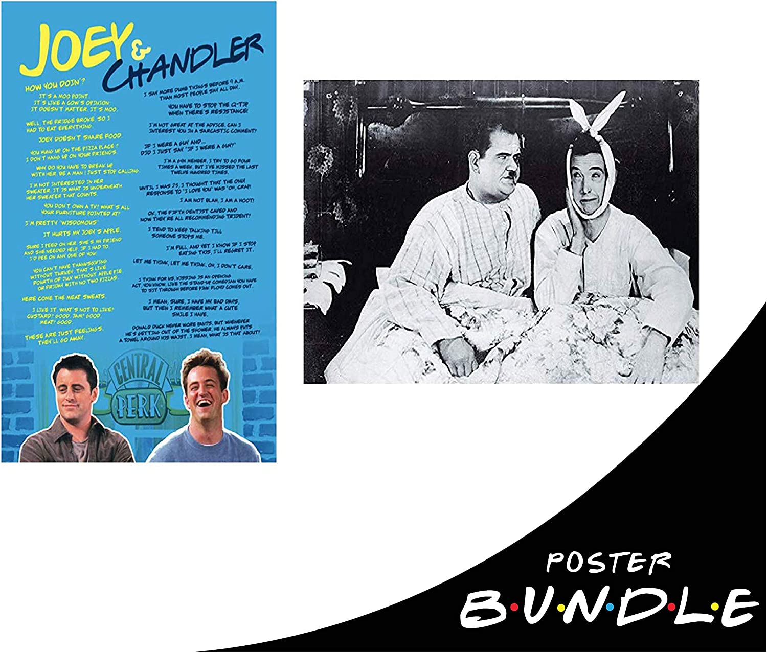 Amazon Com Cool Tv Props New Friends Poster Friends Merchandise Tv Show Poster Joey And Chandler Posters Friends Show Gifts And Decor Joey Chandler Bundle Posters Prints
