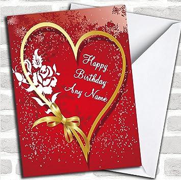 Herz Und Schleife Romantische Geburtstag Karte Mit Umschlag Kann