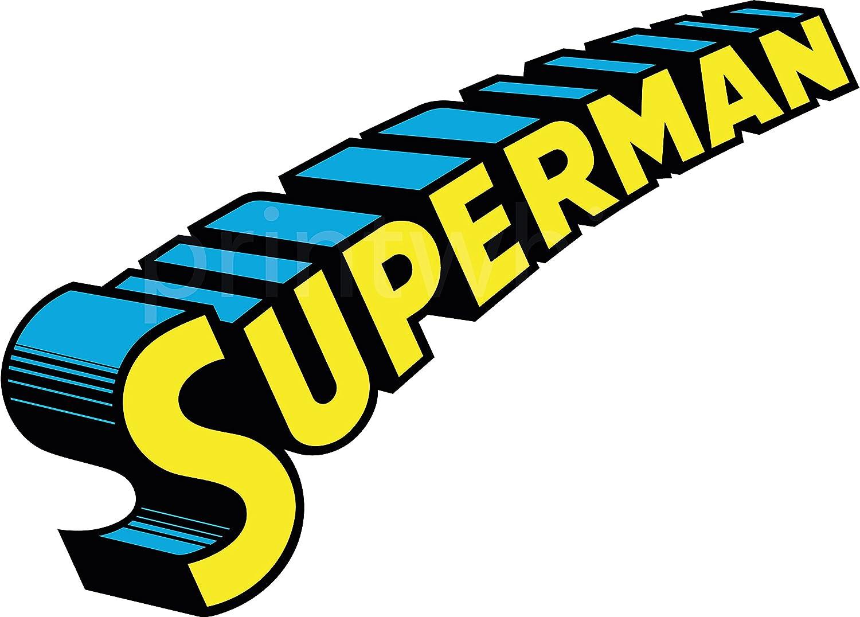 Superman Logo Crest Vinyl Sticker Wall Car Laptop Superhero Comic Book