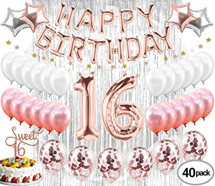 Amazoncom 16th Birthday Decorations Party Supplies Sweet 16