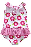 Sociala One Piece Swimsuit for Girls Pink Toddler