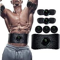 Electroestimulador Muscular Abdominales, Estimulación Muscular USB Recargable ABS Trainer para Abdomen/Brazo/Piernas…