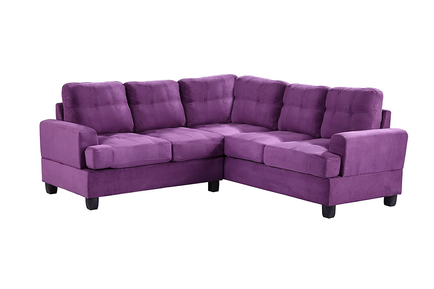 Amazon.com: Glory Furniture G517B SC Sectional Sofa, Purple, 2 Boxes:  Kitchen U0026 Dining