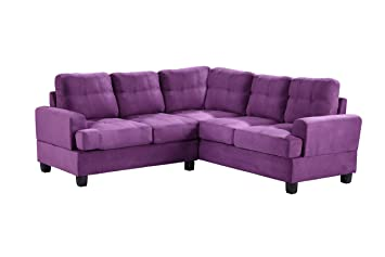 Glory Furniture G517B SC Sectional Sofa, Purple, 2 Boxes
