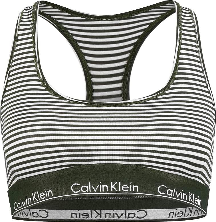 Calvin Klein Women Bralette De Algodón Moderno, Raya De Marcha ...