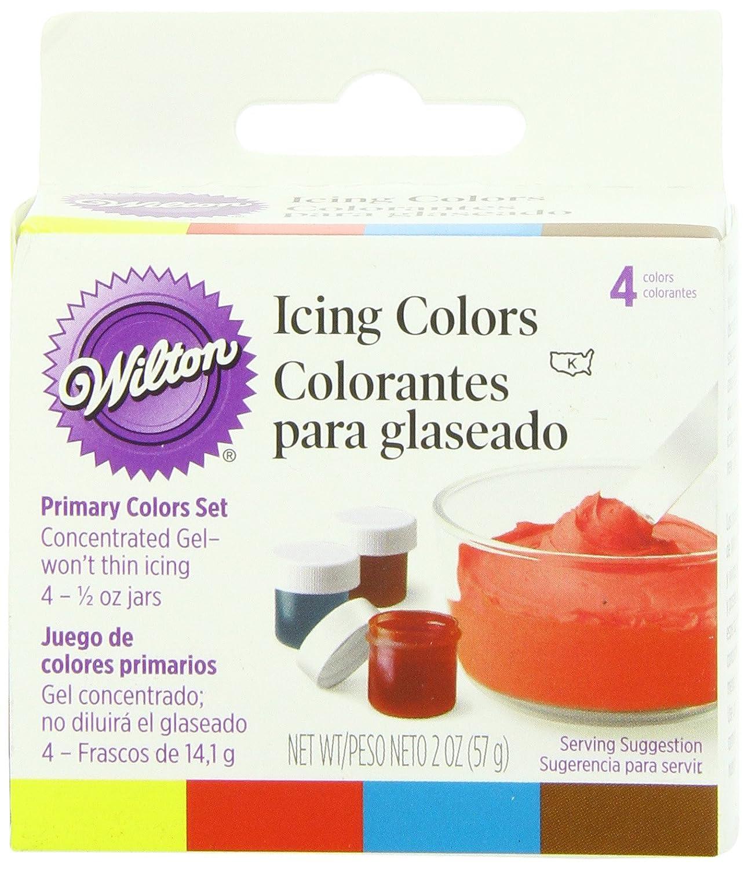 Amazon.com: Wilton Pastel 4-Piece Icing Color Set: Kitchen & Dining