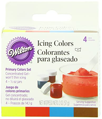 Amazon.com : Wilton Primary Icing Colors, Set of 4 : Food Coloring ...