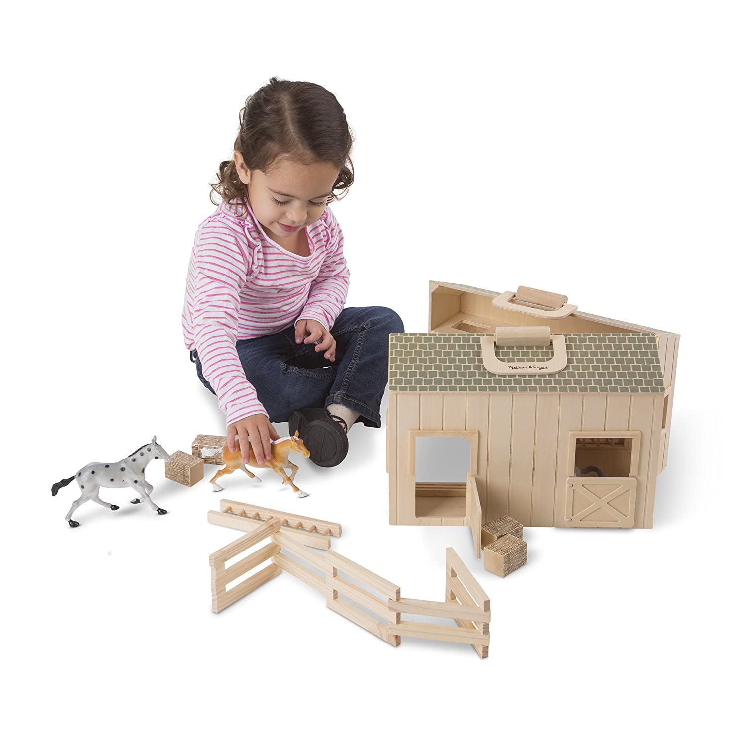 Melissa and Doug Fold and Go Stable Christmas ideas 5 year old girl