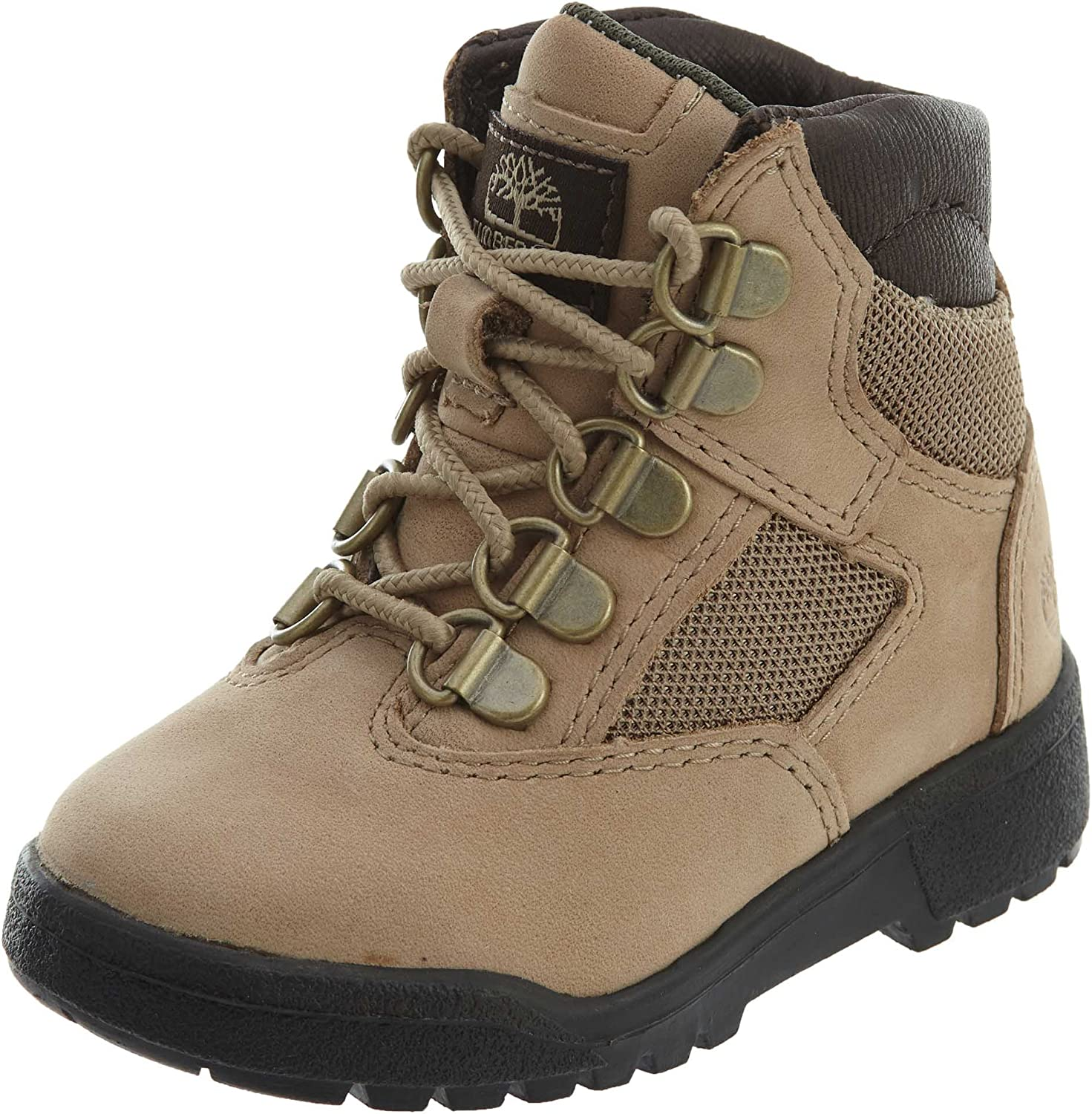 Beige 11 Little Kid M Timberland Kids Unisex 6 Leather//Fabric Field Boot Toddler//Little Kid