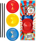 3 Spinning Plates with sticks by Henbrandt