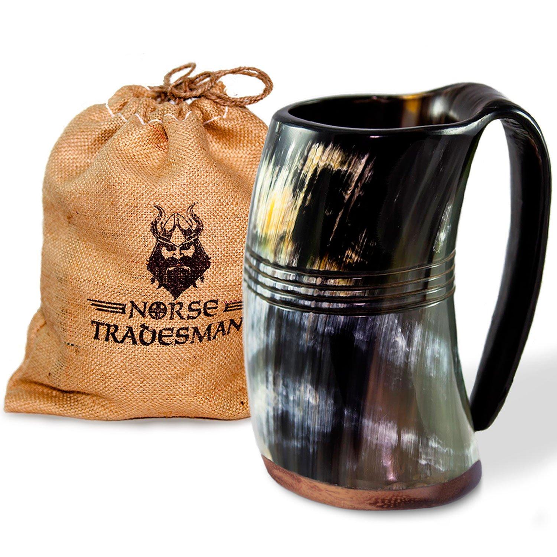 Norse Tradesman Genuine Viking Drinking Horn Tankard (4, The Eternal) by Norse Tradesman (Image #10)