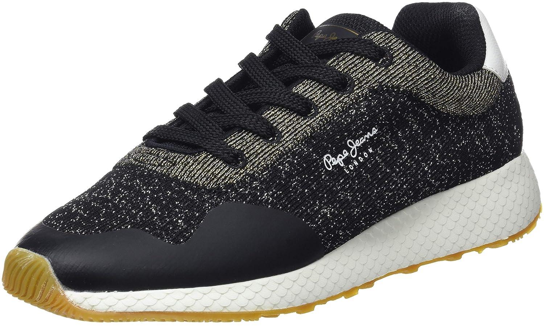 Pepe Jeans Damen Schwarz Koko Sand Sneaker, Schwarz Damen (schwarz 999) d49c62