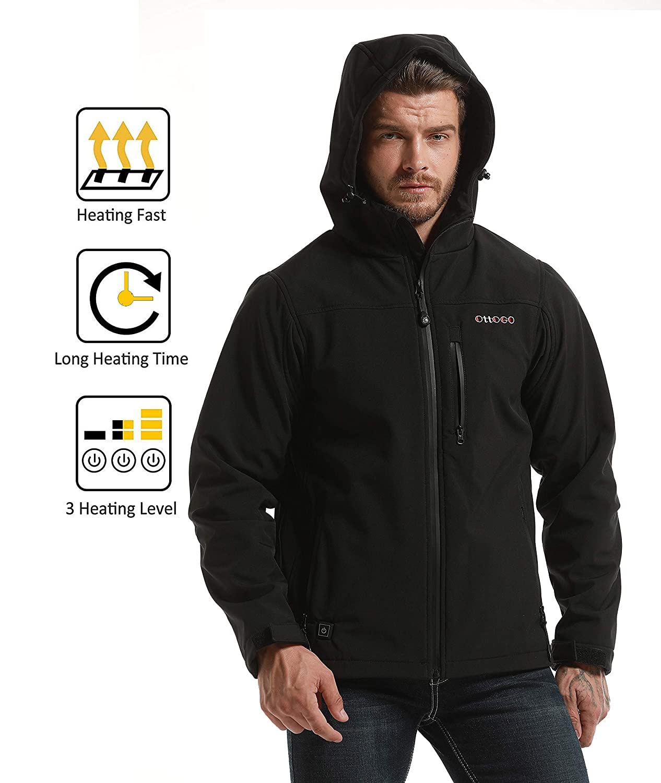 Amazon.com: Chaqueta calentada para hombre y mujer, capucha ...