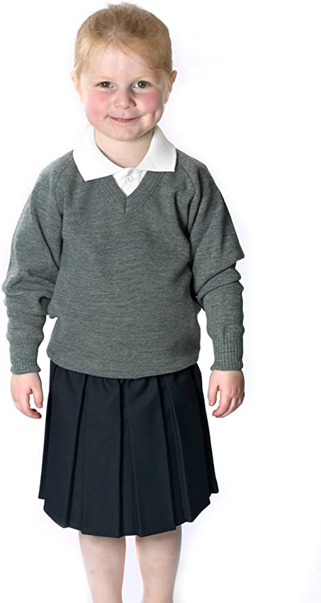 CreativeMinds UK School Uniform Girls Summer Formal Dress Bottom Full Elastic Box Pleat Skirt Only Uniform /®