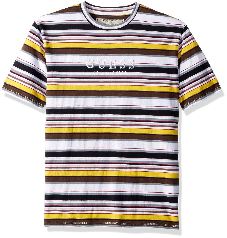039520e3 GUESS Men's Short Sleeve Ashton Crew Neck Shirt | Amazon.com