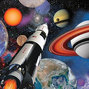 16 Servilletas * espacial/Space Blast * Cumpleaños para ...