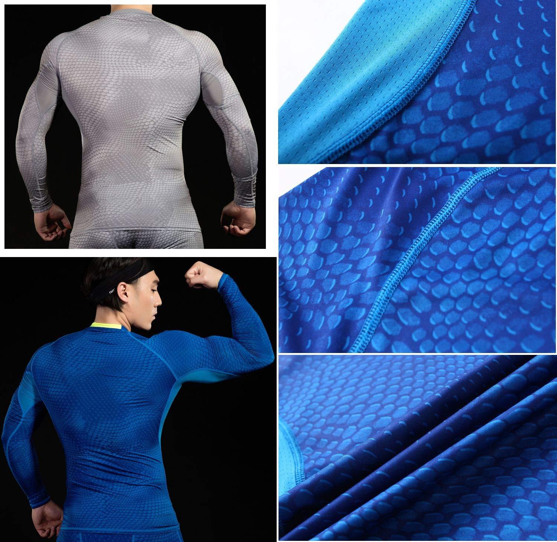 i-select Shapewear T-Shirt de Compression /à Manches Longues Taille Rembourrage de Graisse Col Rond