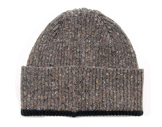 717b49be300 Donegal Wool Knitted Beanie Hat - Brown - Made in Scotland  Amazon ...