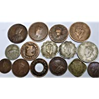 NOVELTY COLLECTIONS 13 British India&2 Gwalior State Coins(All Different)