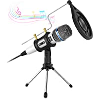Computer Condenser Microphone,Valoin 3.5mm Plug & Play Recording Microphone for Computer Laptop Desktop