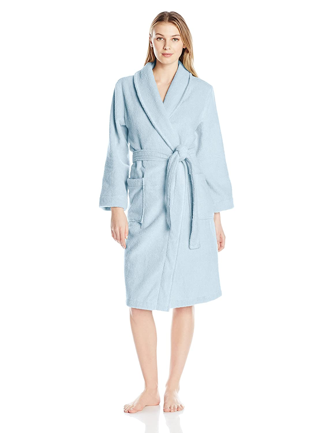 iRelax Women's 42 Turkish Terry Shawl Collar Robe iRelax Womens Sleepwear 9451005