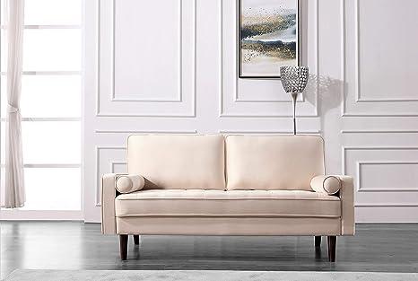 Amazon.com: US Pride Furniture S5482-S Sofas, Beige: Kitchen ...