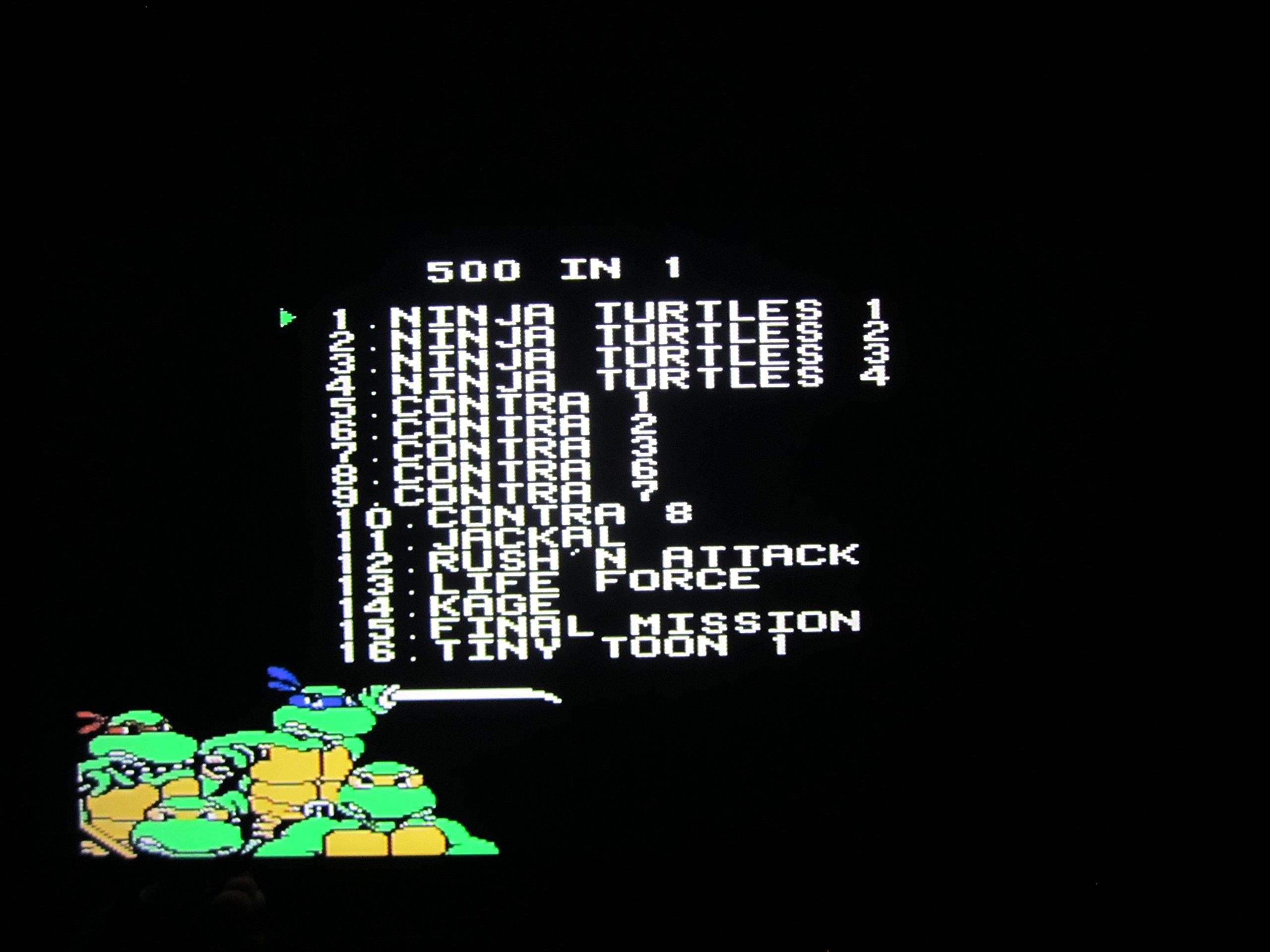 Amazon.com: 500 in 1 Nintendo NES Game Cartridge! Includes Batman ...