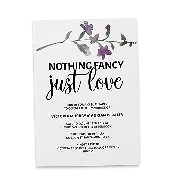 amazon com nothing fancy just love elopement announcement
