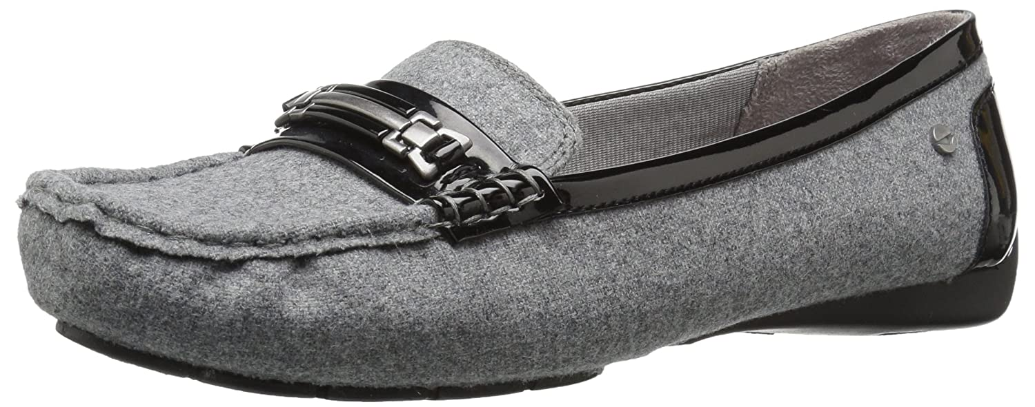 LifeStride Women's Vanity Slip-on Loafer B06XRTRX66 8 W US|Black Flannel