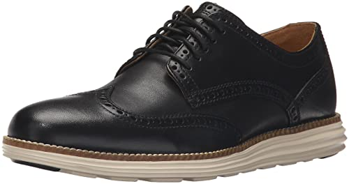 Cole Haan Men's Original Grand Wingtip Sneakers, Black Leather, 7 M US