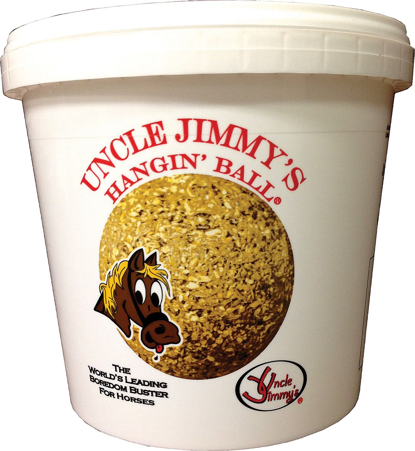 UNCLE JIMMYS BRAND PR LLC Uncle Jimmy's Hangin' Ball Treats for Horses Sugar Free 3 Pound