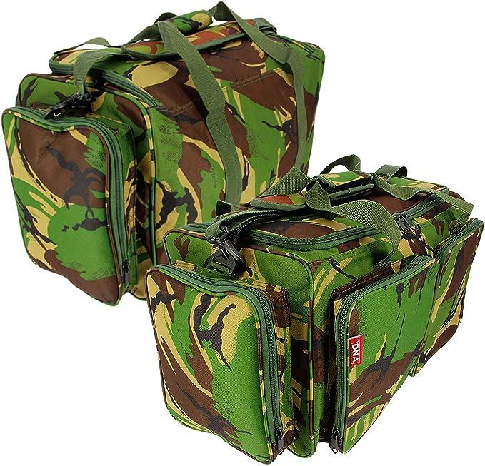 DPM CAMO Carp Fishing 3+3 Rod /& Reel Holdall And Tackle Carryall Bag Luggage Set