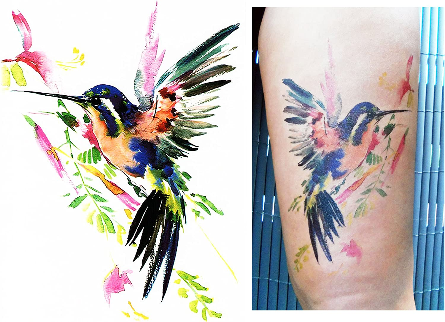 Tatuajes temporales Tempo rary Tattoo Fake Tattoo – De Colibrí ...