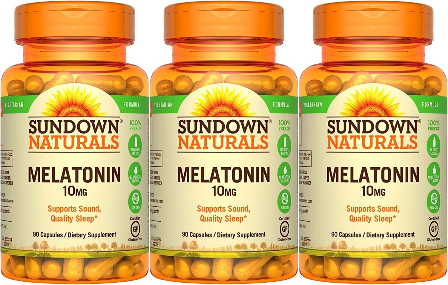 Amazon.com: Sundown Naturals Melatonin, 10mg, 270 Capsules (3 X 90 Count bottles): Health & Personal Care