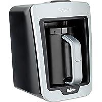 Fakir Kaave – turkisk mocka-maskin I elektrisk kaffebryggare med 4 koppar kapacitet och traditionell trämätsked I enkel…