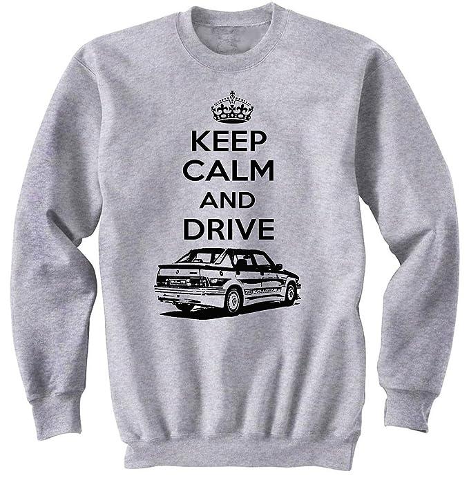 TEESANDENGINES Mens Alfa Romeo 75 Turbo Keep Calm P Gris Sudadera: Amazon.es: Ropa y accesorios