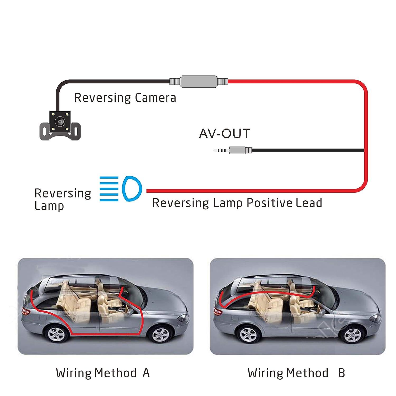 Jeemak C/ámara de Coche 4 FHD Dual Lens Dash CAM 1080P Camera para Coche con Gran Angular de 170 Grados Grabadora DVR G-Sensor Monitor de Aparcamiento y Visi/ón Nocturna WDR y Grabaci/ón en Bucle