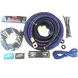 Sky High Oversized 4 Gauge OFC Big 3 Upgrade Blue//Black Electrical Wiring Kit