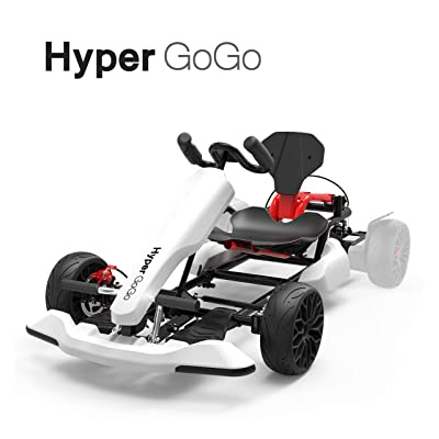 HYPER GOGO GoKart Kit - Hoverboard Attachment - Compatible with All Hover Boards ,White: Toys & Games
