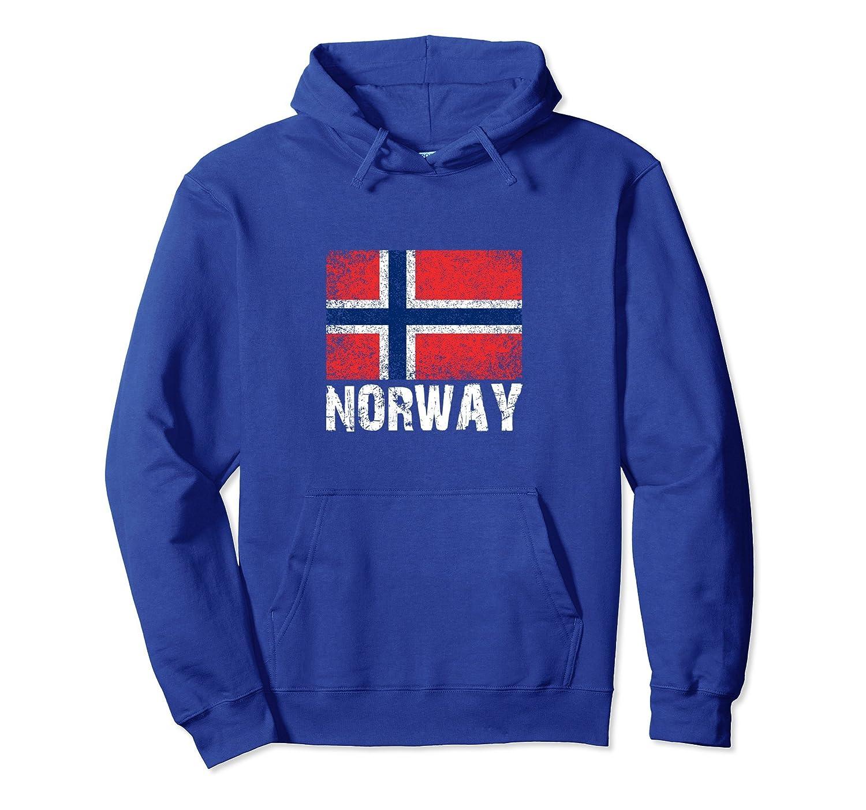 Distressed Norway Flag Hoodie for Men or Women-ln