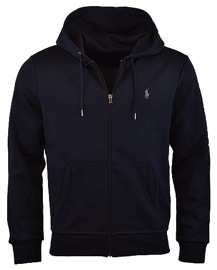 Polo Ralph Lauren Men s Double-Knit Full-Zip Hoodie at Amazon Men s ... 5194efbab7d0