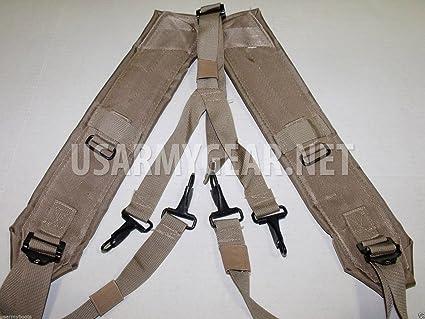 838efa8108ea1 Army Military Alice LC-2 Desert Tan Coyote LBE Y Shoulder Straps DCU  Suspenders